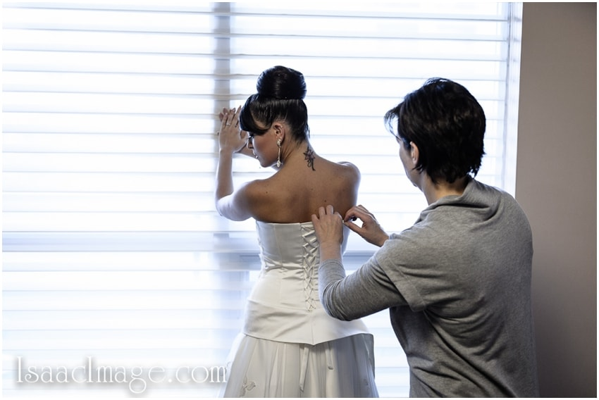 wedding dress bride getting ready