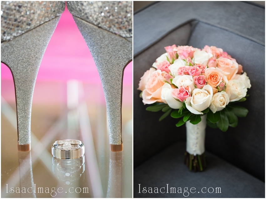 wedding rings shoes bouquet