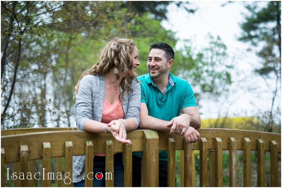 Couple on the bridge Adamson Estate Engagement session